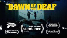 DAWN OF THE DEAF - Multi-Award winning 12 minute subtitled/sign language short horror film The Walking Deaf, Walking Dead, Deaf Actress, Zombie News, Movie Posters For Sale, Shot Film, Physical Comedy, Sky Tv, Short Film Festivals