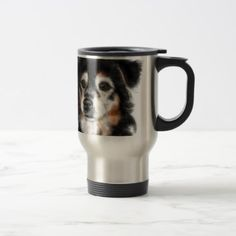 Black and white dog travel mug - Xmas ChristmasEve Christmas Eve Christmas merry xmas family kids gifts holidays Santa