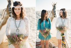 End of Summer Bohemian Shoot on the Beach  Magnolia Event Design  Tenley Erin Young  Beach Headband wedding  Bride bridesmaid casual  Native American Squash blossom necklace lace