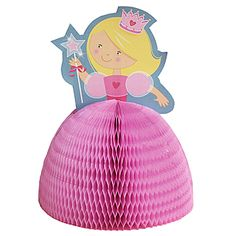This adorable and affordable pink fairytale #princess centerpiece is an easy way to dress up party tables.