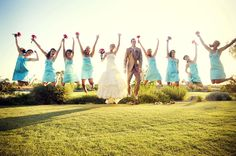 wedding + jumping pic= love