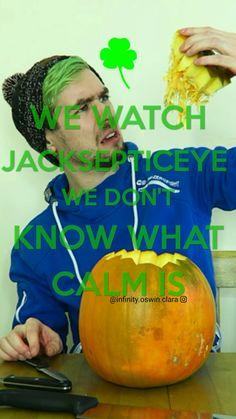"""Keep calm and..."" lockscreen with Jacksepticeye. Oh I love that Irish boi."