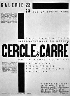 """""""Cercle et Carré"""" group, first international exhibition, Galerie 23, Paris, 1930"""