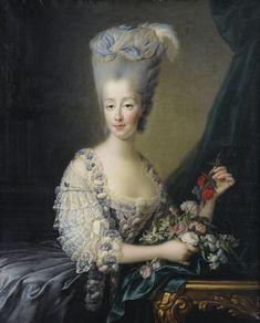 François-Hubert Drouais (1727-1775) —  Portrait of Madame Comtesse d'Artois (1612x2000)