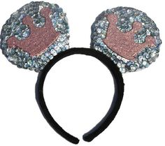 Princess Handcrafted Homemade Sequin Costume Mouse Ears Headband are the perfect pair of mouse ears for toddlers, children, and adults with the one...  #princessears #princess #mouseears #disneyprincess #cosplay #disneycosplay #disneyland #disneyworld #disneyside #mickeyears