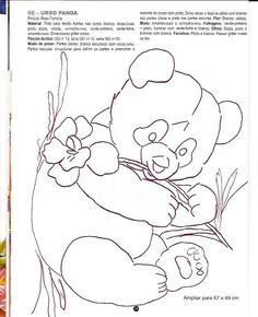 Pintura em Tecido Passo a Passo: Urso panda pintura em tecido