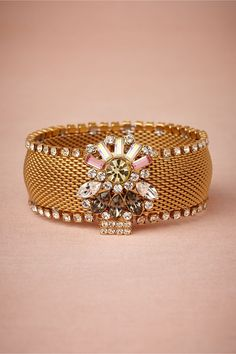 Something new for a wedding day; something precious to wear any day. Jewel Trove Cuff via BHLDN