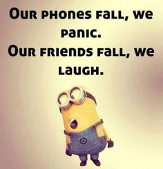 Top 21 Funny Quotes Whatsapp – Hilarious Memes And Super Humor In Life – Minions quotes Funny Minion Memes, Minions Quotes, Funny Jokes, Minion Humor, Minion Sayings, Hilarious Sayings, Funny Insults, Funny School Jokes, Funny Sarcastic