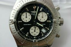 Black Dial Breitling Colt Chronometre A73380 with Original Box & Papers · $555.49 Breitling Colt, Omega Watch, The Originals, Box, Accessories, Black, Etsy, Shopping, Snare Drum