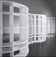 MERIDIANI HOME CURVED BOOKCASE SHELVES  Serpentine bookshelf was 3rd of 3 she sent for our review.