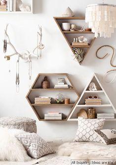 no25 Simple Bedroom Shelves Design Ideas