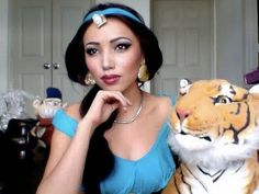 Disney's Princess Jasmine Make-up tutorial !!!!!  Check out all her tutorials though.  Chances are if you want to be it, she has the make-up for it!