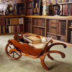 Regency-period wheelbarrow in the Library Anglesey Abbey. ©National Trust Images/Andreas von Einsiedel