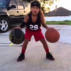 6 YEAR OLD GIRL IS THE NEXT STEPH CURRY! Shot Science Basketball Face...
