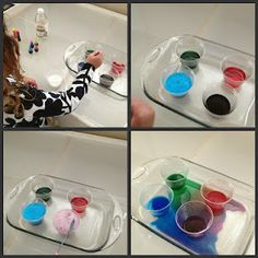 Eruption of color-a twist to the typical volcano experiment