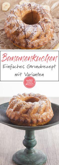 Dieses schnelle Bananenkuchen-Rezept ist ein echter Klassiker und sehr wandelbar - vom Bananenkuchen mit Schokolade bis zum KiBa-Kuchen.