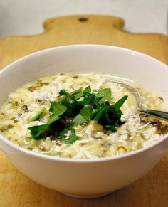 Recipe: Spinach and Lemon Soup with Orzo