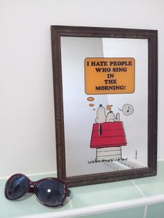 40858a2b6d3 Snoopy Hate People Who Sing in the Morning Retro by RetroLoaf