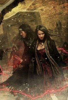 Chris McGrath's art for THE KINGMAKERS (VAMPIRE EMPIRE Book 3) by Clay and Susan Griffith (coming in September 2012.) Adele looks AMAZING!!