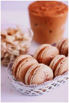 French Macaroons With Burnt Caramel Filling Recipe — Dishmaps