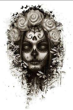 Sugar skull tattoo...I would change her eyes tho