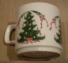 Lillian Vernon Christmas Tree Coffee Cup Mug Made In Ireland