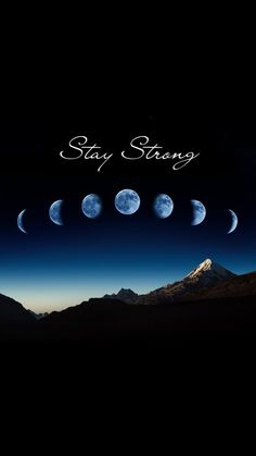 Stay strong moon phase iPhone wallpaper