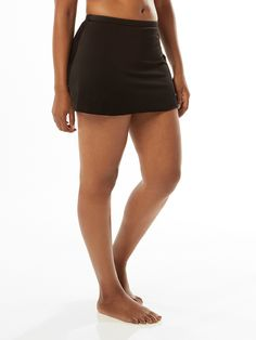 Swim Skirt with built-in shaping brief Swim Skirt, Plus Size Swimsuits, Tankini, Mini Skirts, Ribbon, Swimming, How To Wear, Fashion, Tape