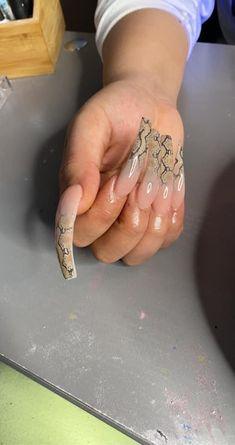 Aycrlic Nails, Glam Nails, Hair And Nails, Perfect Nails, Gorgeous Nails, Clear Glitter Nails, Exotic Nails, Fire Nails, Luxury Nails