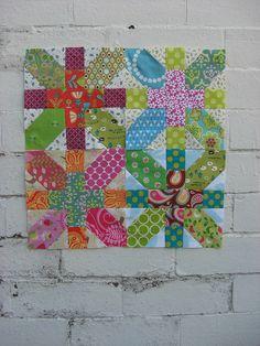 Japanese X blocks - 1st 4 blocks by flossyblossy, via Flickr