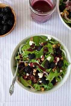Blackberry Chèvre Salad | Annie's Eats by annieseats, via Flickr