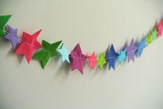 Multicoloured Felt Stars Garland, by Little Cloud via Folksy, £20.00