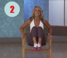 Denise Austin: Abs- Office Workout is a short but effective workout that focuses on sculpting the abs, slimming the waistline, and tightening the oblique mus. Cardio, Hiit, Pilates, Denise Austin, Office Exercise, Bed Workout, Different Exercises, Yoga Gym, Workout For Beginners