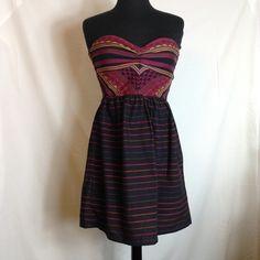 Rosy dress Rosy strapless cotton print dress Roxy Dresses Strapless