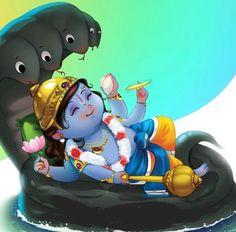 Sri Krishna Jayanthi or Krishna Janmashtami 2020 Rituals assures success in all spheres and eliminates all negative influences. Shiva Art, Krishna Art, Radhe Krishna, Hindu Art, Shree Krishna, Ganesha Art, Baby Ganesha, Baby Krishna, Cute Krishna