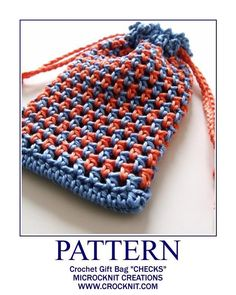 Crochet Gift Bag CHECKS Free Pattern free crochet purse and bag patterns to download and crochet