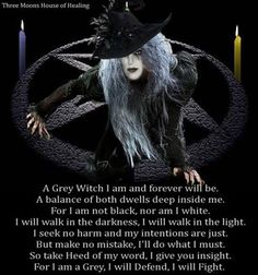 Grey witch. Keeping the balance