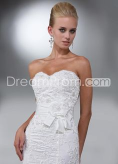 Elegant+Trumpet/Mermaid+Sweetheart+Floor-length+Chapel+Lace+Wedding+Dresses