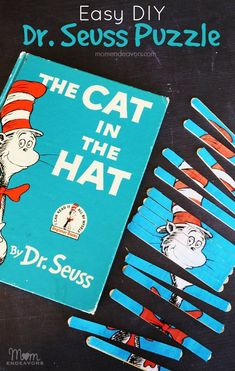 Diy Dr Seuss Puzzle To Go With The Cat In The Hat