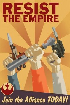Resist The Empire - Rebel Alliance Propaganda 12x18 Poster. $20.00, via Etsy.