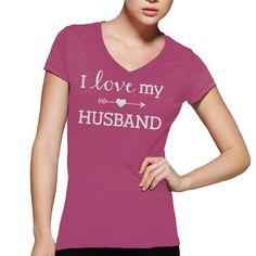 I Love My Husband Shirt - #gifts for guys #teacher gift. PRICE CUT => https://www.sunfrog.com/Automotive/I-Love-My-Husband-Shirt-45945164-Guys.html?68278
