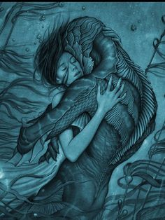 Doug Jones and Sally Hawkins in The Shape of Water Best Movie Posters, Movie Poster Art, Film Posters, Lost In Tokyo, Comic Collage, Water Movie, Water Poster, The Shape Of Water, Drama