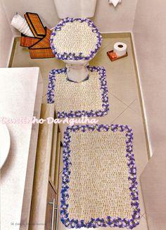 Tapetes Em Crochê Com Flores Amor-Perfeito - CROCHE COM RECEITAS