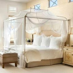 Cameron Iron Canopy Queen Bed from PoshTots