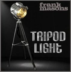 TRIPOD FLOOR LAMP Marine Nautical Floor Lamp standing MODERN RETRO PHOTOGRAPHERS