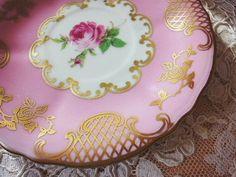 バラと金彩・カップ&ソーサー - イギリスとフランスのアンティーク | バラと天使のアンティーク | Eglantyne(エグランティーヌ)