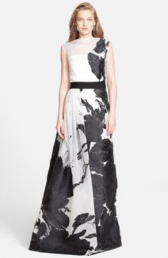 St John Women's Collection Dramatic Floral Fil Coupe Gown | Dress, Frock and Clothing