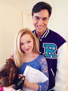 Dove and Ryan looking adorable on the Liv and Maddie set | Community Post: 16 Reasons Why Dove Cameron And Ryan McCartan Are The Most Perfect Couple
