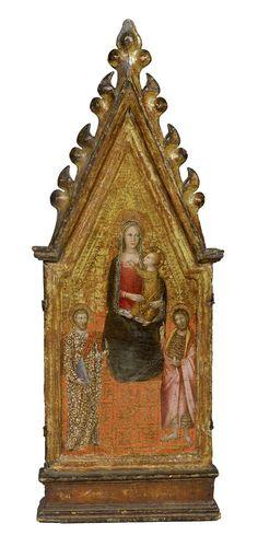 "Early Renaissance  --  ""Madonna & Child With Saint Bartholomew & John the Baptist""  --  Andrea di Bonaiuti  (Florence, 1343-1378)  --  Tempera & gold ground on panel"