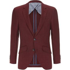 Hackett Mayfair Hopsack Blazer (53,075 INR) found on Polyvore featuring men's fashion, men's clothing and sportcoats